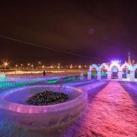 Ледяной парк отдыха Хрустальная сказка