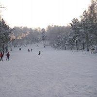 Горнолыжная трасса в Академгородке