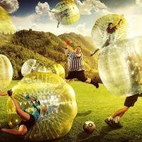 Бампербол Emotionballs, проведение футбола в шарах