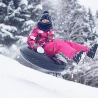 «Первая городская лыжня» катание на ватрушках