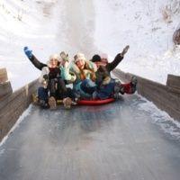 Зимняя горка  на Базе отдыха «Альпийская деревня»